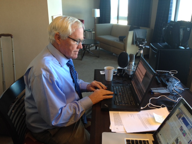 Bob getting ready for Twitter chat